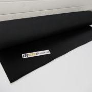 Zwart geribbelde rubber mat antislip 3mm