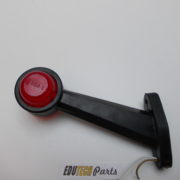 Zijmarkeringslamp schuin rubber gloeilamp ba15s