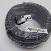 2-aderige PVC kabel 1,5mm2 it/zwart per meter
