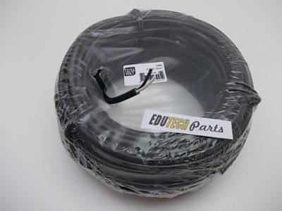 2-aderige PVC kabel 1,5mm2 it/zwart per meter